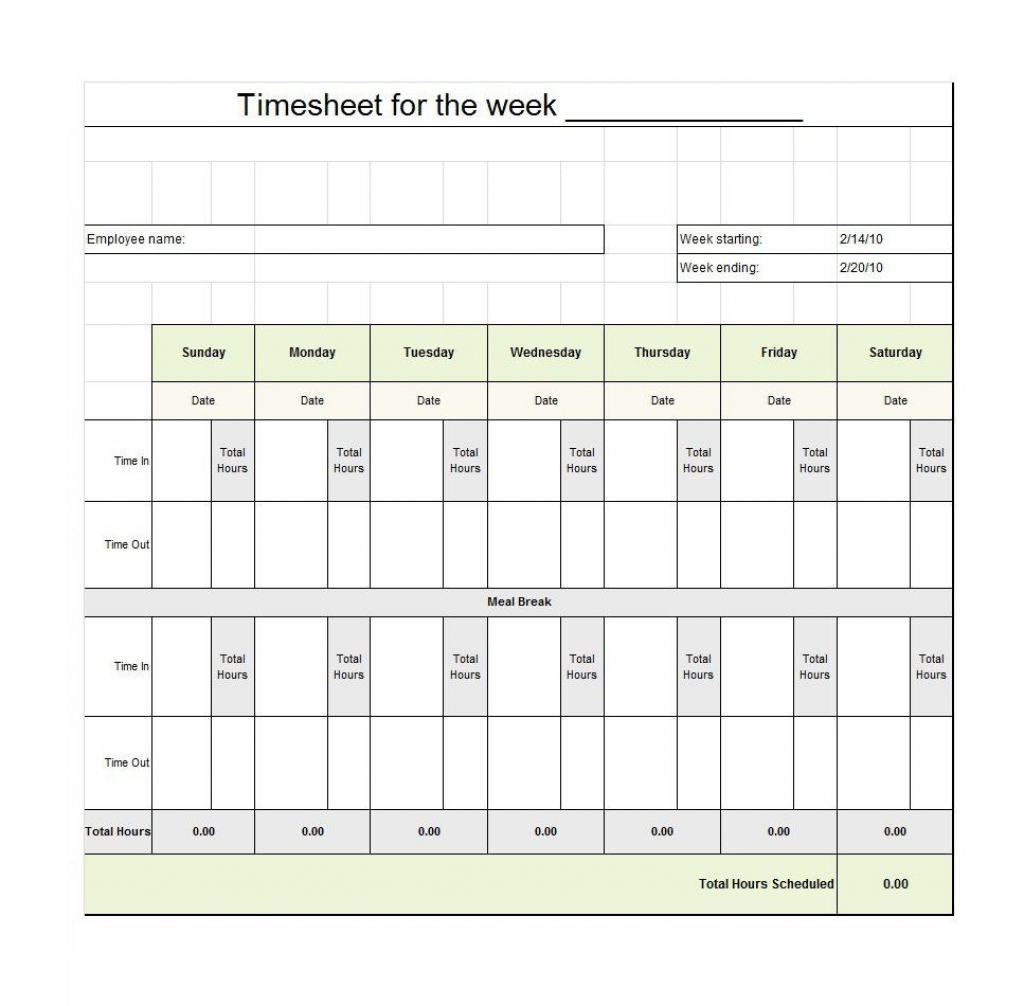 40 Free Timesheet / Time Card Templates ᐅ Template Lab | Employee Time Card Template Printable