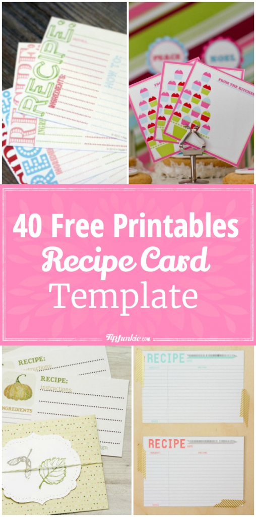 40 Recipe Card Template And Free Printables – Tip Junkie   Free Printable Recipe Cards