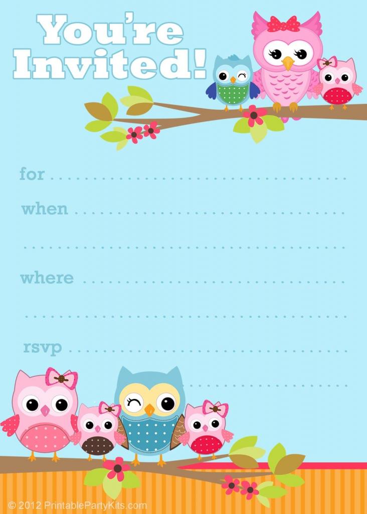 41 Printable Birthday Party Cards & Invitations For Kids To Make | Free Printable Birthday Invitation Cards