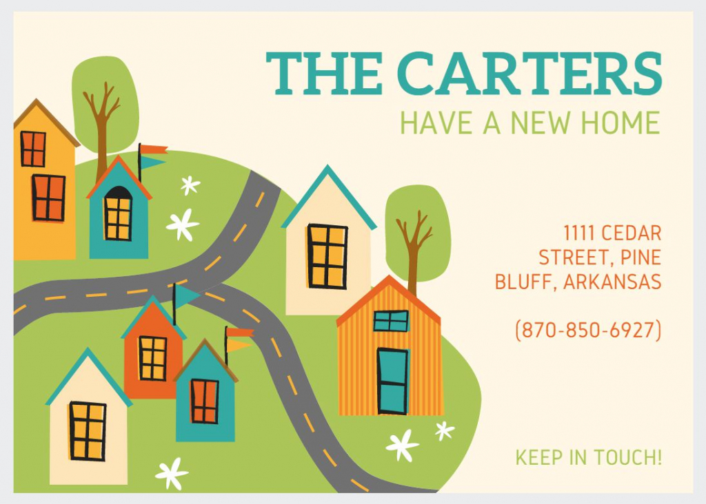 49 Free Change Of Address Cards (Moving Announcements) | We Are Moving Cards Free Printable