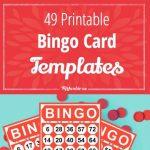 49 Printable Bingo Card Templates   Monthly Ministry Ideas   Bingo   Free Printable Bingo Cards 1 75