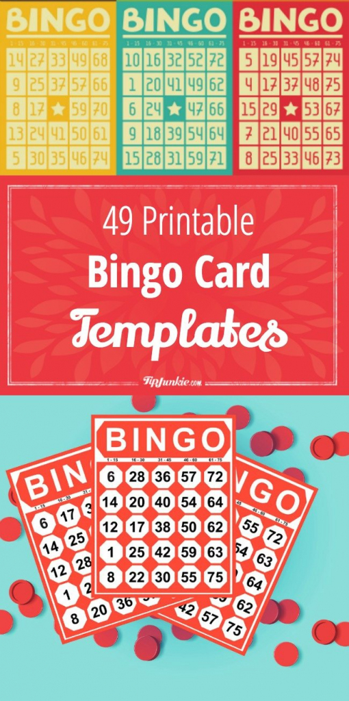 49 Printable Bingo Card Templates – Tip Junkie   Printable Number Bingo Cards