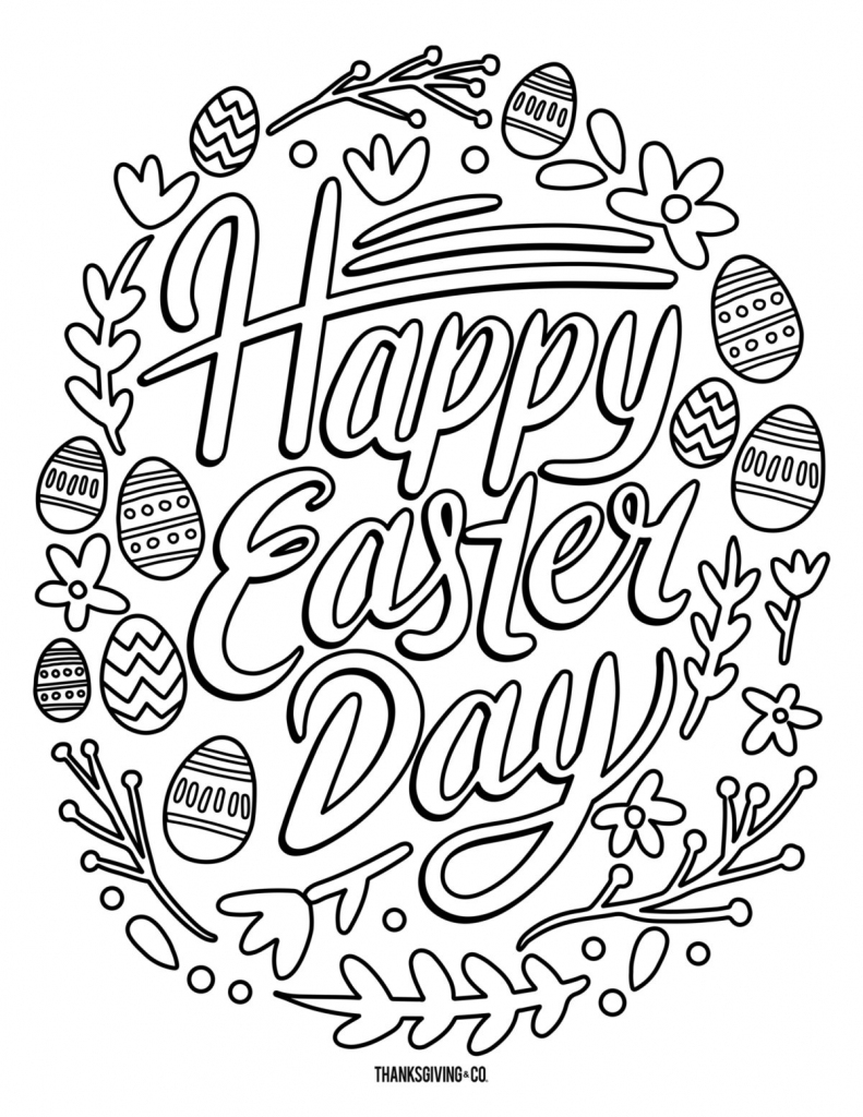 5 Free Printable Easter Coloring Pages For Adults That Will Relieve   Free Printable Coloring Cards For Adults