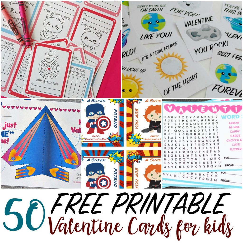 50 Printable Valentine Cards For Kids | Make Your Own Printable Valentines Card