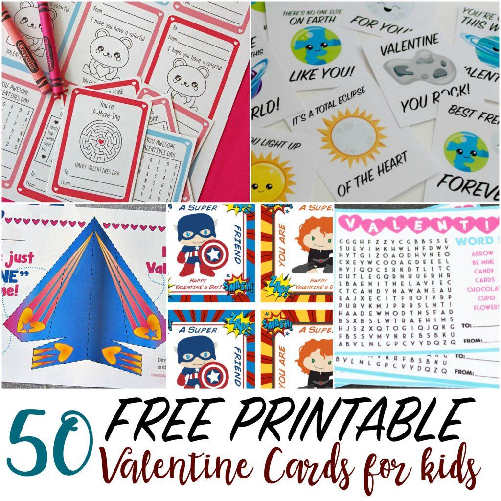 50 Printable Valentine Cards For Kids   Printable Valentine Cards For Kids