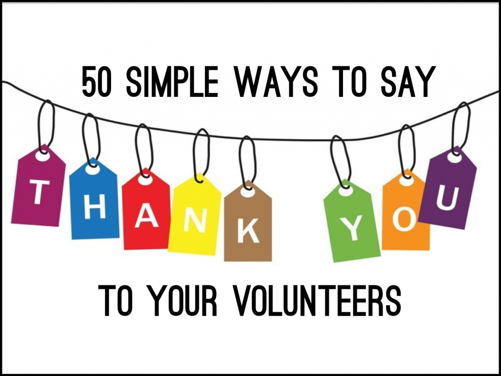 """50 Simple Ways To Say """"thank You"""" To Your Volunteers ~ Relevant 