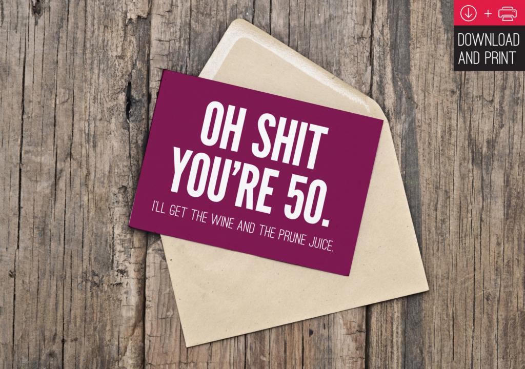 50Th Birthday Cards Printable - Kleo.bergdorfbib.co | Free Printable 50Th Birthday Cards Funny