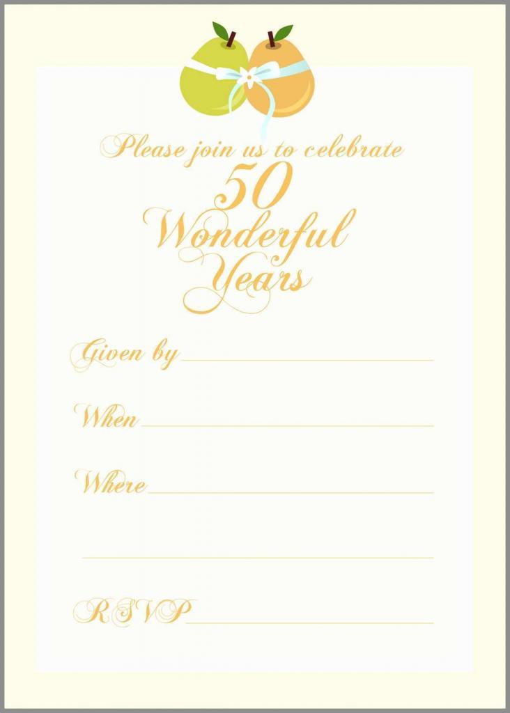50Th Wedding Anniversary Cards Free Printable - Canas.bergdorfbib.co | Free Printable 50Th Anniversary Cards