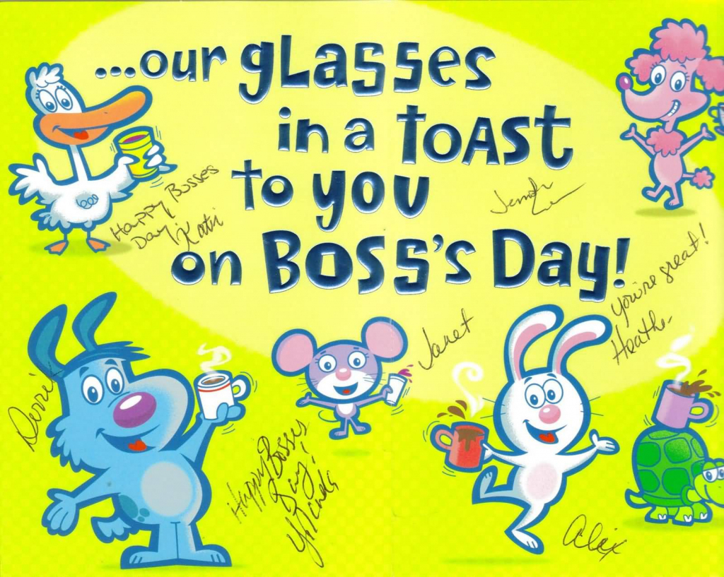 55+ Latest Boss Day Wish Pictures And Photos   Boss Day Cards Free Printable