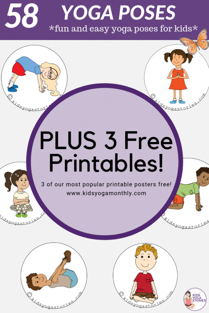 58 Fun And Easy Yoga Poses For Kids (Printable Posters) | Classroom | Printable Yoga Flash Cards For Kids
