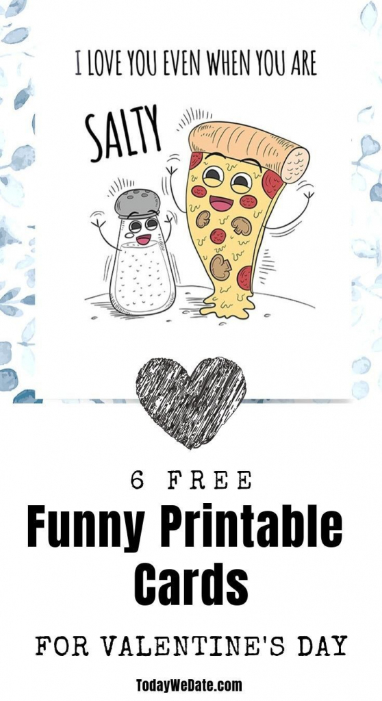 6 Free Hilarious Printable Valentine's Day Cards | Holidays // Gifts | Printable I Love You Cards