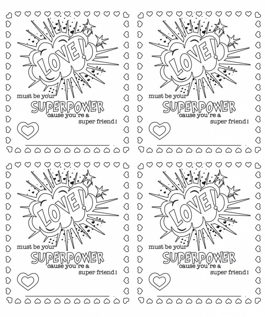 6 Free Printable, Color-Your-Own Valentines That Make The Perfect | Free Printable Color Your Own Cards