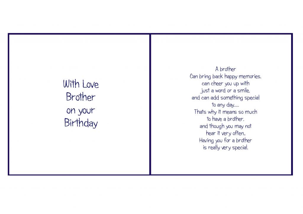 6X6 Brother Birthday | Card Verses | Christmas Card Verses | Free Printable Birthday Cards For Brother