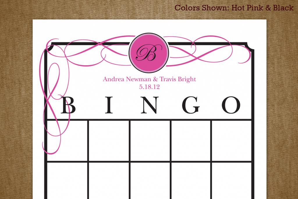 7 Best Images Of Printable Bridal Bingo Cards Free Pink Floral | Free Printable Bridal Shower Cards