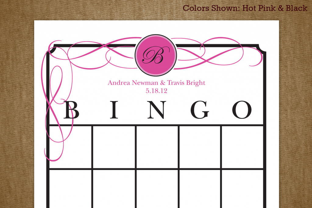 7 Best Images Of Printable Bridal Bingo Cards Free Pink Floral | Printable Blank Bridal Shower Bingo Cards