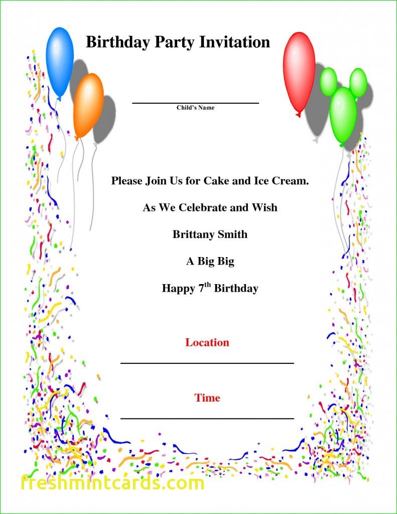 7Th Birthday Invitation Card Printable - Under.bergdorfbib.co | 7Th Birthday Card Printable