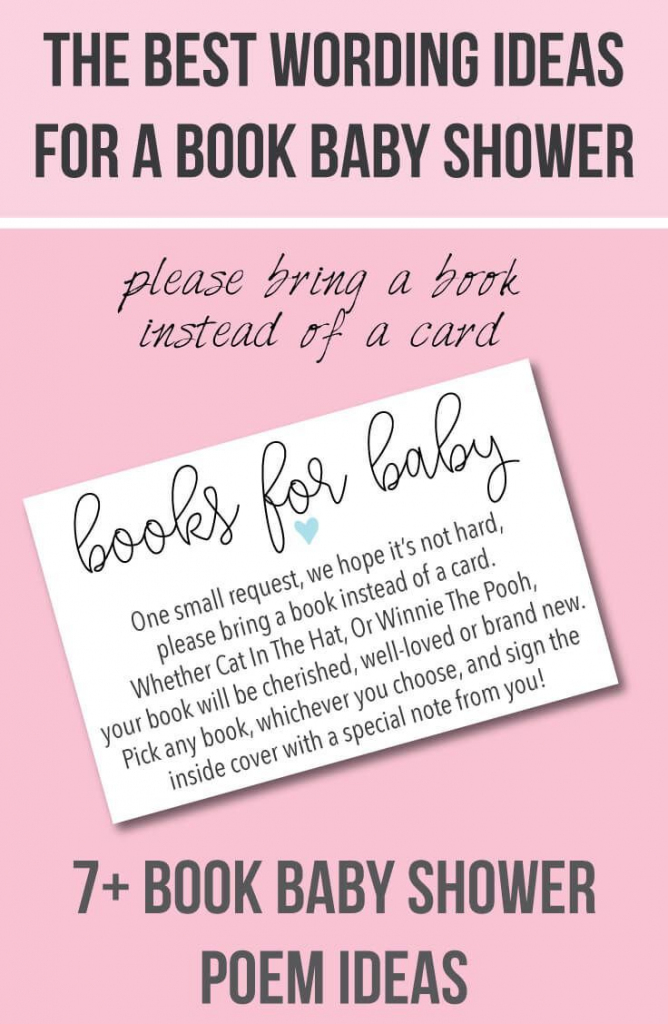 """9 """"bring A Book Instead Of A Card"""" Baby Shower Invitation Ideas In   Please Bring A Book Instead Of A Card Printable"""