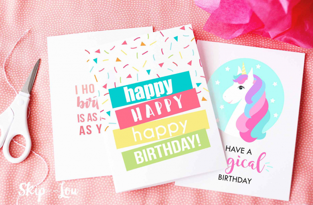 9 Free, Printable Birthday Cards For Everyone   Create Greeting Cards Online Free Printable