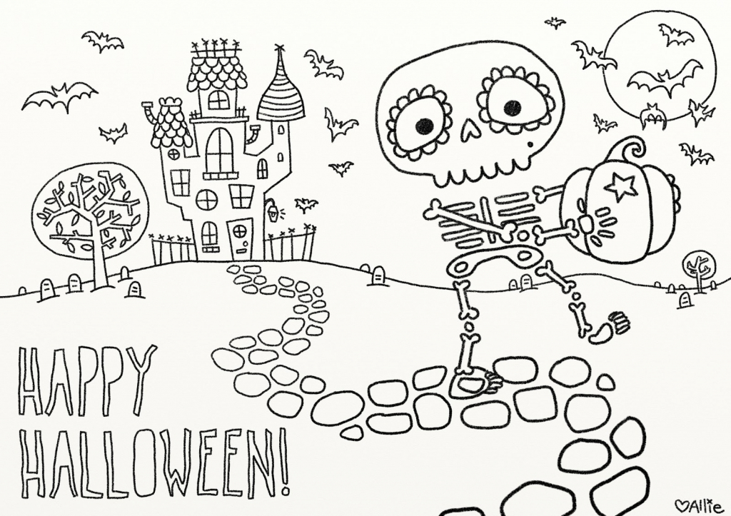 9 Fun Free Printable Halloween Coloring Pages - Printable Halloween   Printable Halloween Cards To Color For Free