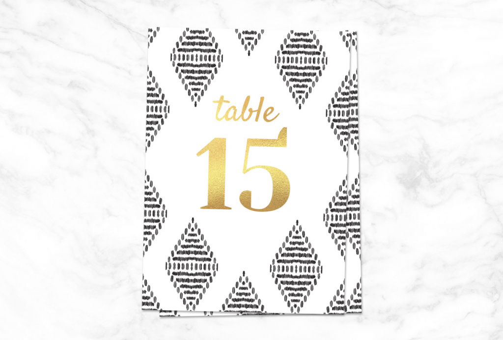 9 Printable Table Numbers To Add Elegance To Your Centerpiece | Printable Table Number Cards