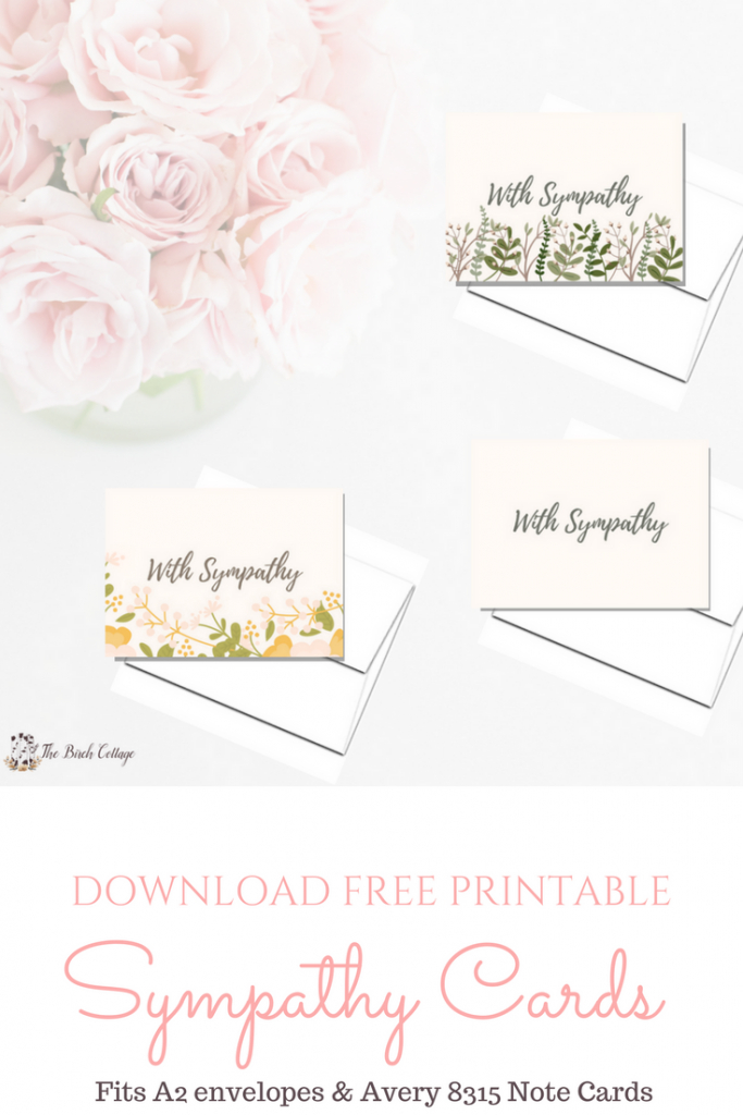 A Bundle Of Joy & Some Heartbreaking News With Printable Sympathy | Free Printable Sympathy Cards