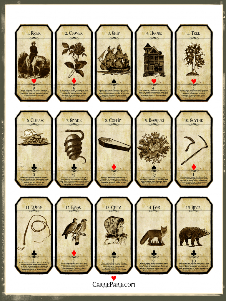 A Free Holiday Learning Deck - Carriepariscarrieparis | Printable Tarot Card Deck