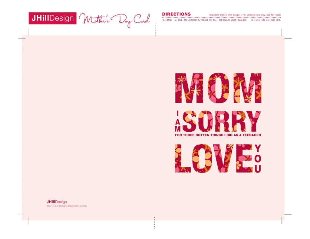 A New Mrs.: Free Printable Mother's Day Cards!   Free Printable Mothers Day Cards To My Wife