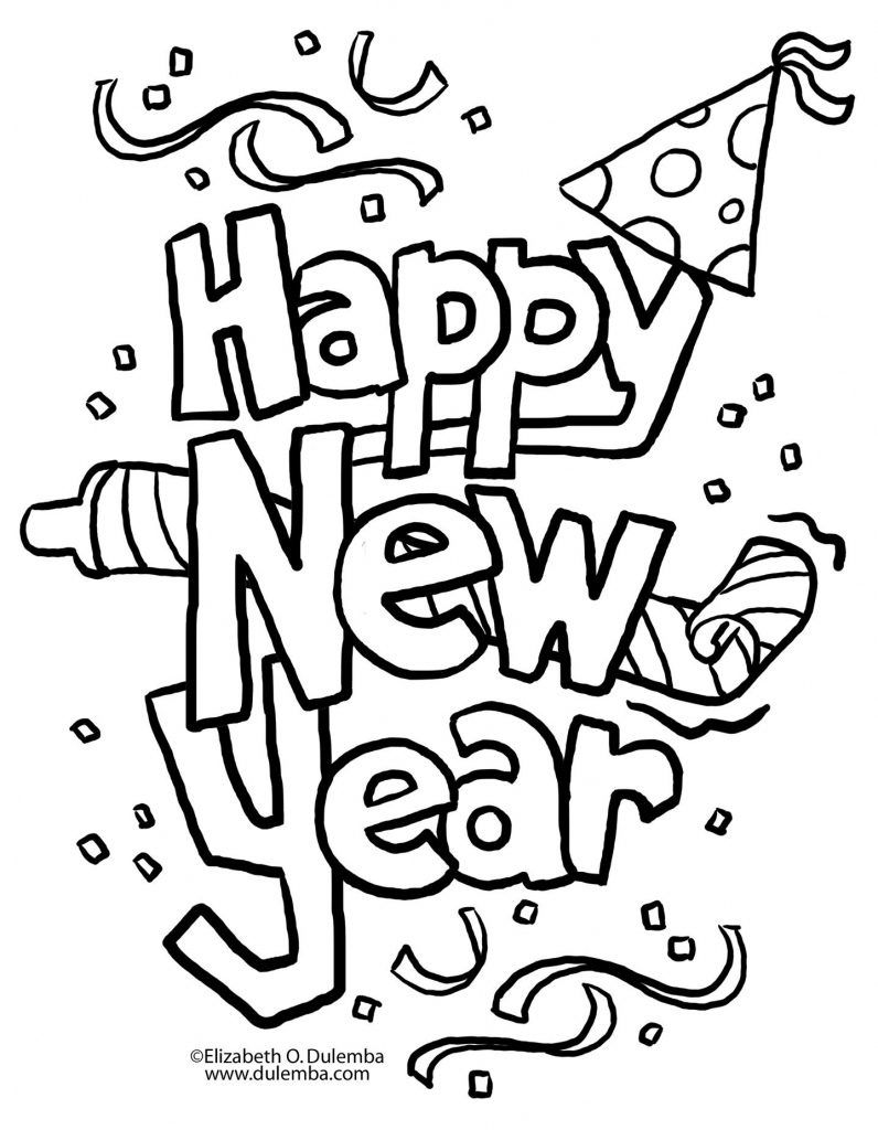 A New Twist On New Year's Eve | Coloring Pages | Christmas Coloring | Free Printable Happy New Year Cards