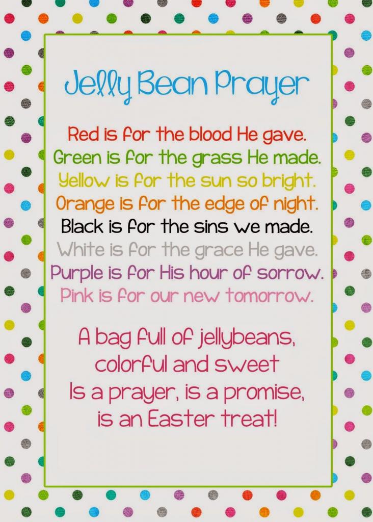 A Pocket Full Of Lds Prints: Jelly Bean Prayer Poem - Easter Freebie | Jelly Bean Prayer Printable Cards