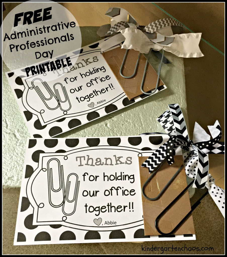 Administrative Professionals Day   Appreciation Gift Ideas   Administrative Professionals Cards Printable Free