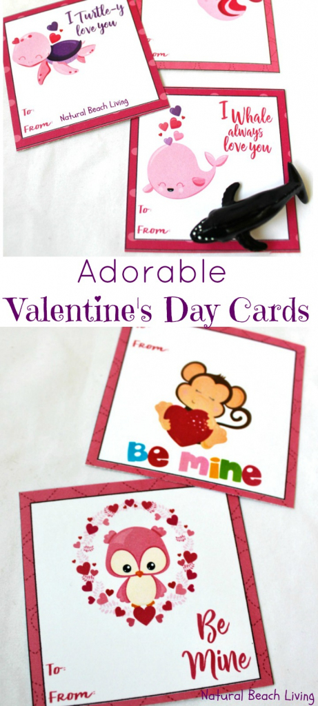 Adorable Preschool Valentine's Day Cards (Free Printables) - Natural | Free Printable Childrens Valentines Day Cards