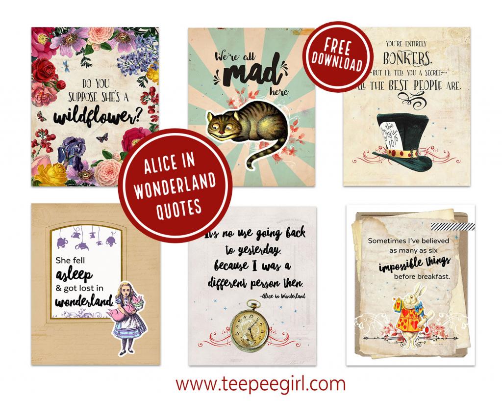 Alice In Wonderland Printables - Teepee Girl   Alice In Wonderland Printable Playing Cards