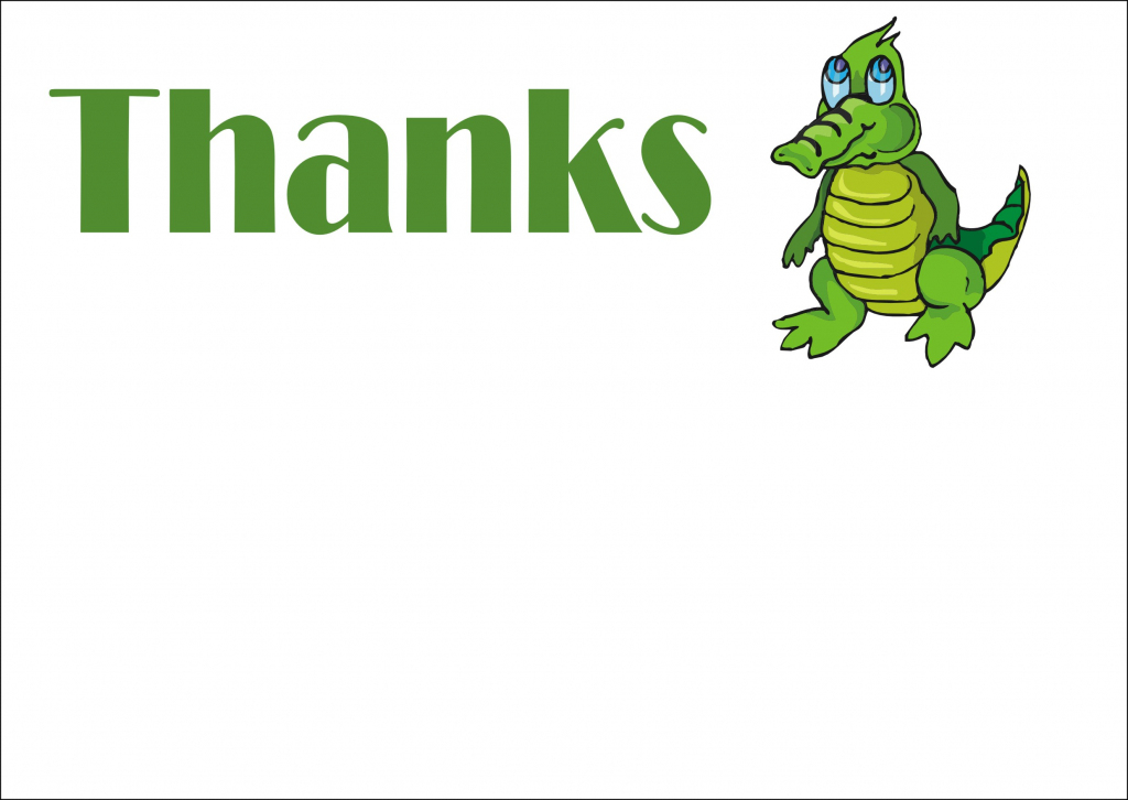 All Free Animal Thank You Notes And Thank You Cards | Dinosaur Thank You Cards Printable