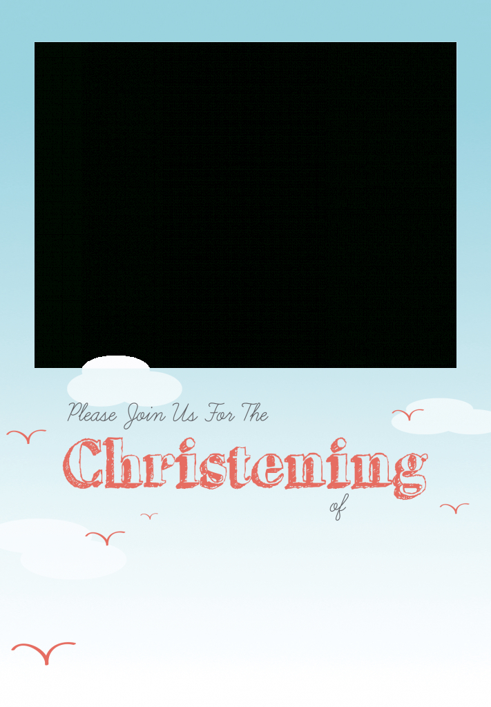 All Smiles - Free Printable Baptism & Christening Invitation | Free Printable Baptism Greeting Cards