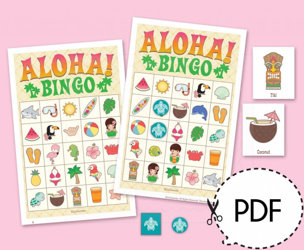 Aloha Luau Hawaii Bingo Game Kitprintable Pdf Download | Etsy | Printable Hawaiian Bingo Cards