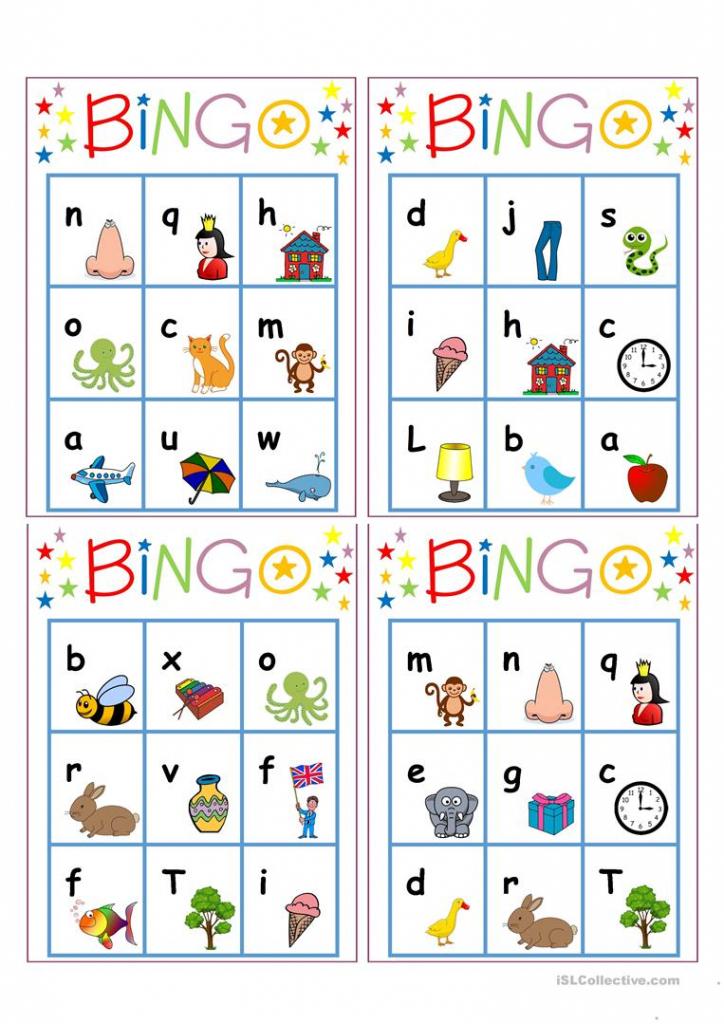 Alphabet Bingo Worksheet - Free Esl Printable Worksheets Made   Free Printable Alphabet Bingo Cards