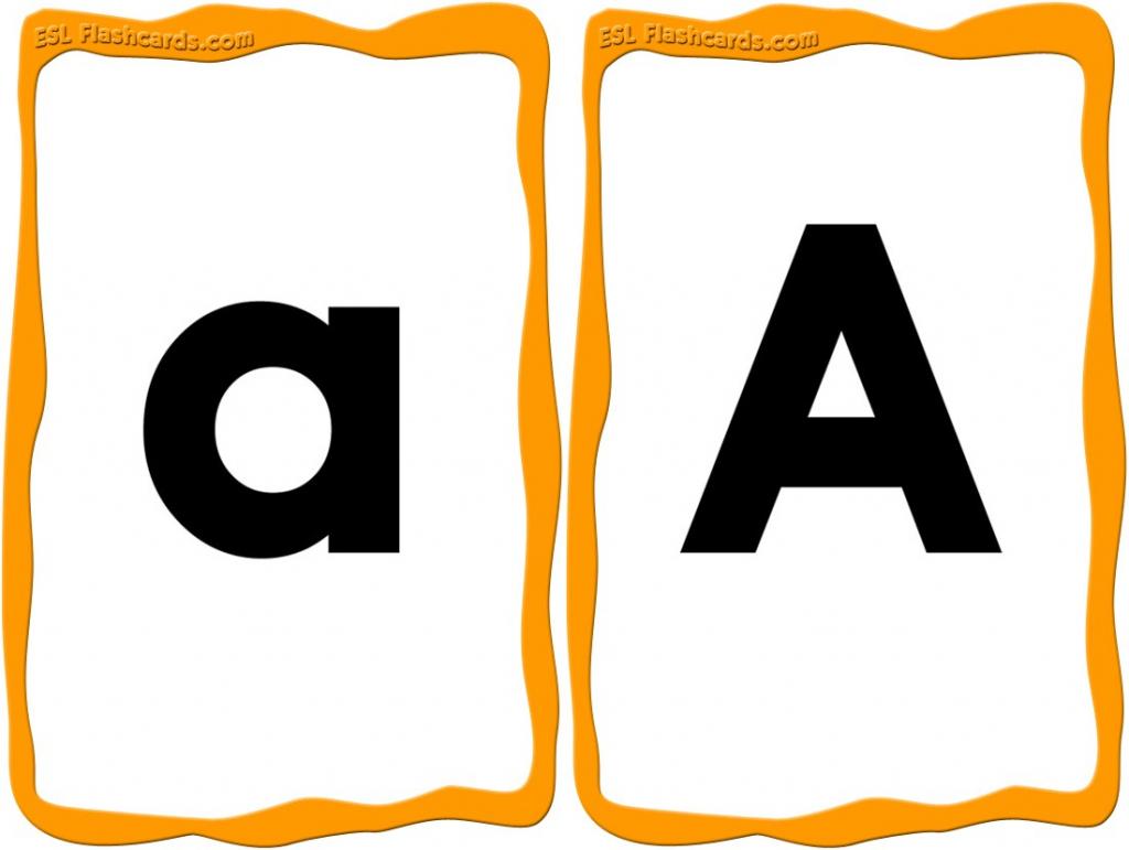 Alphabet Cards - 52 Free Printable Flashcards | Free Printable Alphabet Cards With Pictures