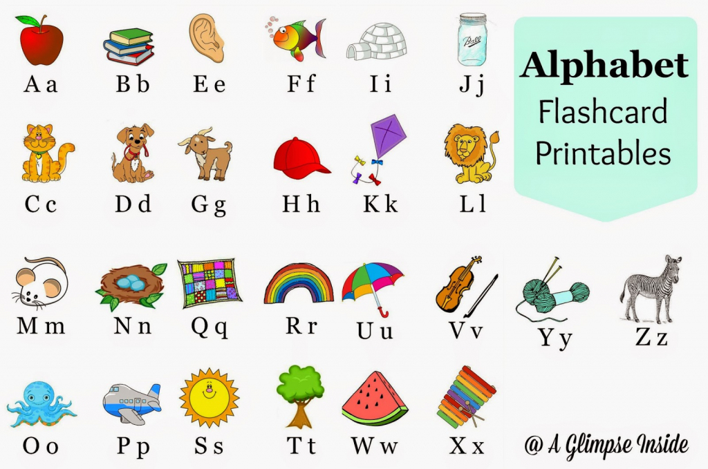 Alphabet Flashcards Printables | A Glimpse Inside | Printable Alphabet Cards Without Pictures