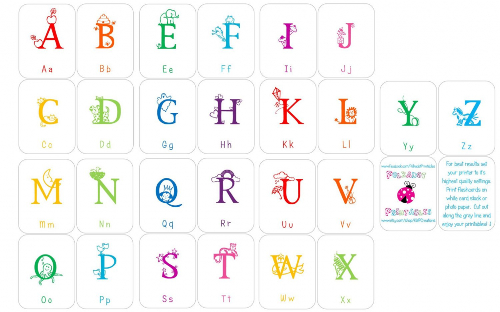 Alphabet Flashcards Upper And Lowercase Instant Download | Etsy | Upper And Lowercase Letters Printable Flash Cards