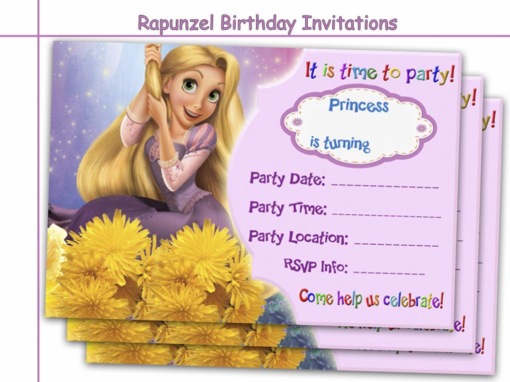 Amazing Rapunzel Birthday Invitations,holidaypartystar On Zibbet | Printable Rapunzel Birthday Card