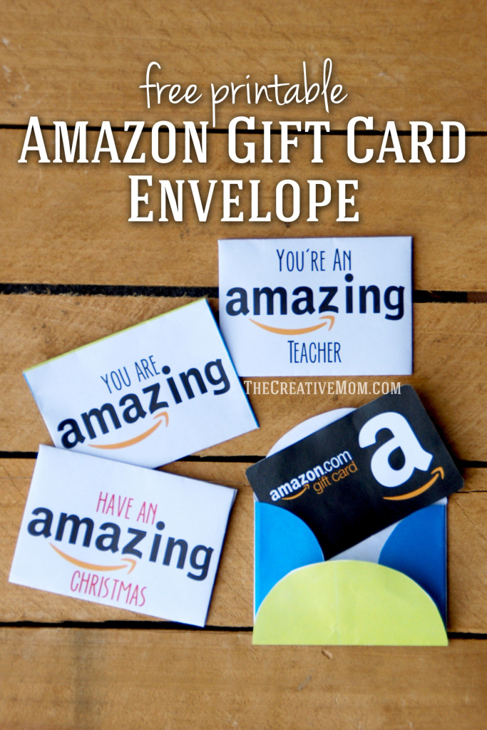 Amazon Gift Card Envelopes (Free Printable Download)   Printables   Printable Visa Gift Cards