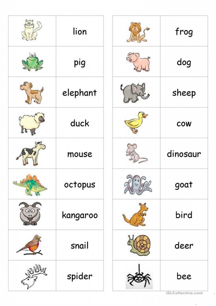 Animal Dominoes Worksheet - Free Esl Printable Worksheets Made   Animal Matching Cards Printable