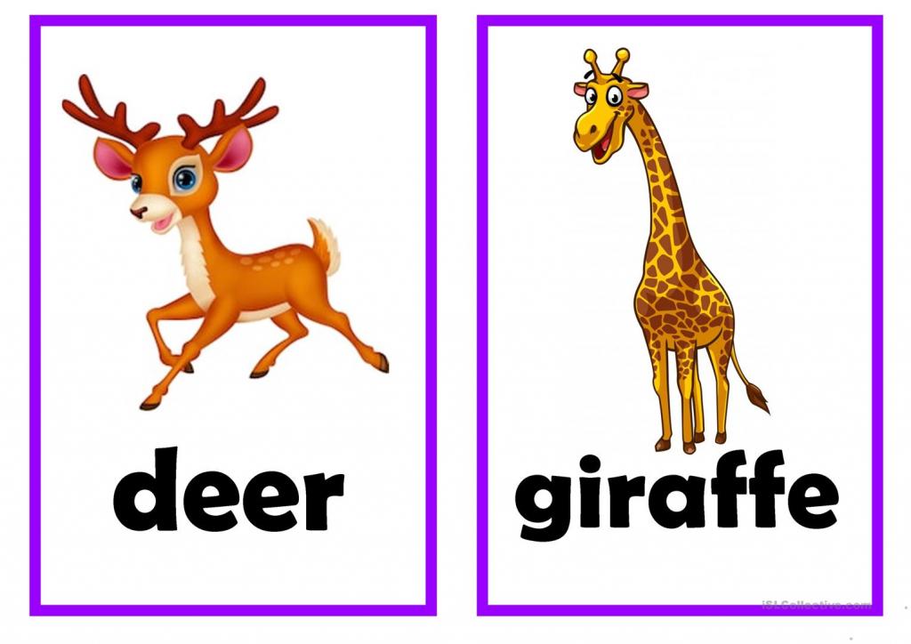 Animal Flash Card Worksheet - Free Esl Printable Worksheets Made   Animal Snap Cards Printable