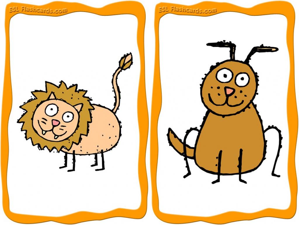 Animal Flashcards - 15 Free Printable Flashcards   Animal Snap Cards Printable