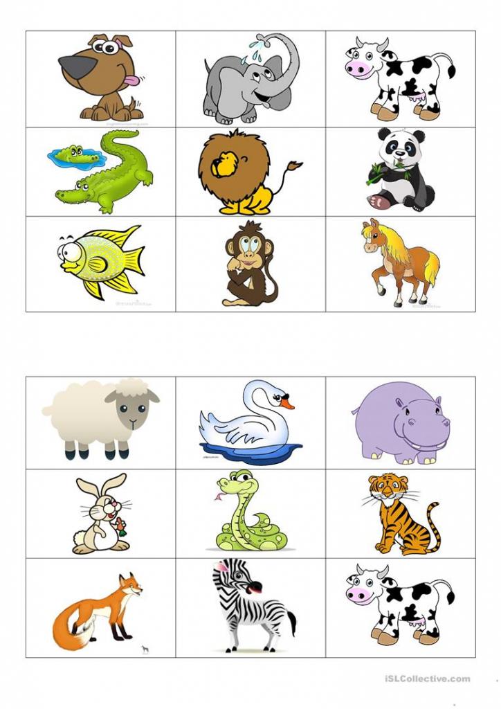 Animals Bingo Cards Worksheet - Free Esl Printable Worksheets Made | Free Printable Animal Cards