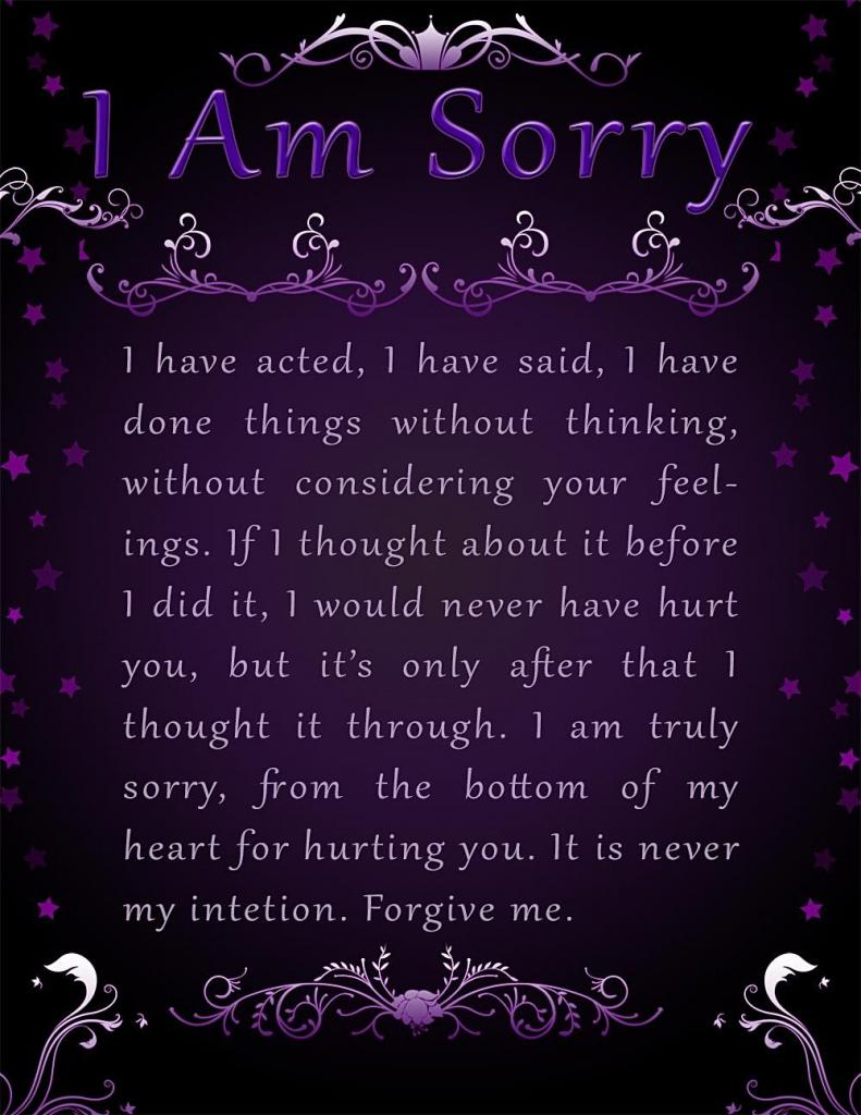 Apology Card Templates   10+ Free Printable Word & Pdf   Free Printable Apology Cards