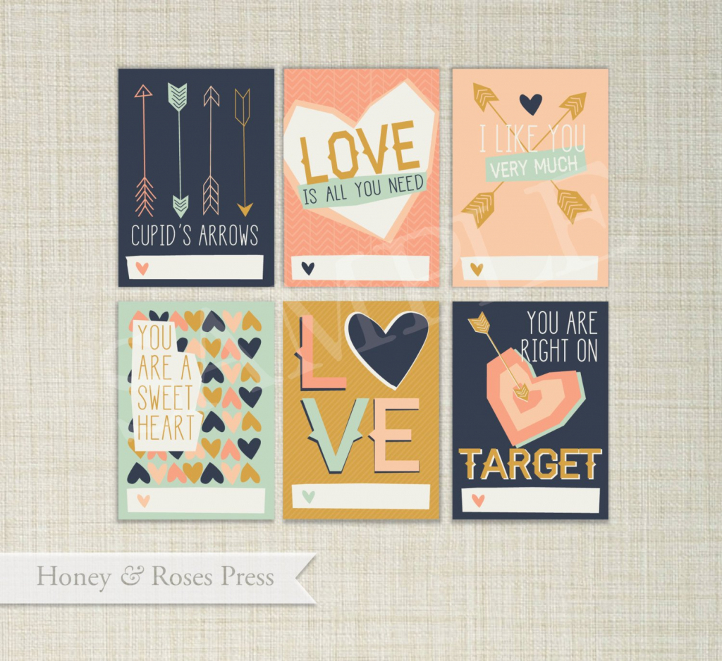 Arrow Valentine's Day Cards . Hipster Valentines . Kids   Etsy   Etsy Printable Valentines Cards