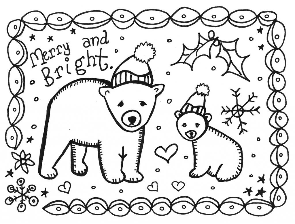 Art Is Basic-- Art Teacher Blog: Free Printable Holiday Card To Color | Printable Christmas Cards To Color