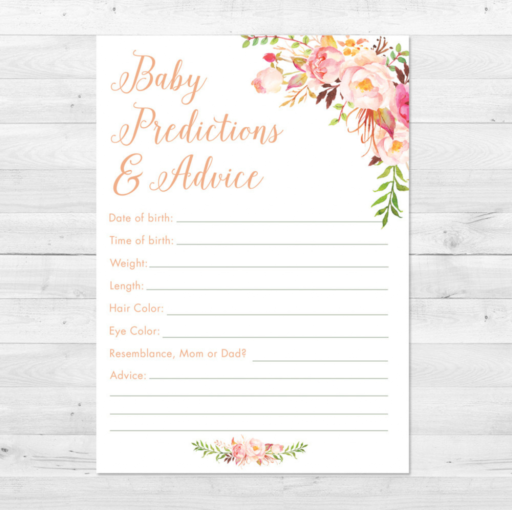 Baby Prediction And Advice Cards Free Printable | Free Printables | Baby Prediction And Advice Cards Free Printable