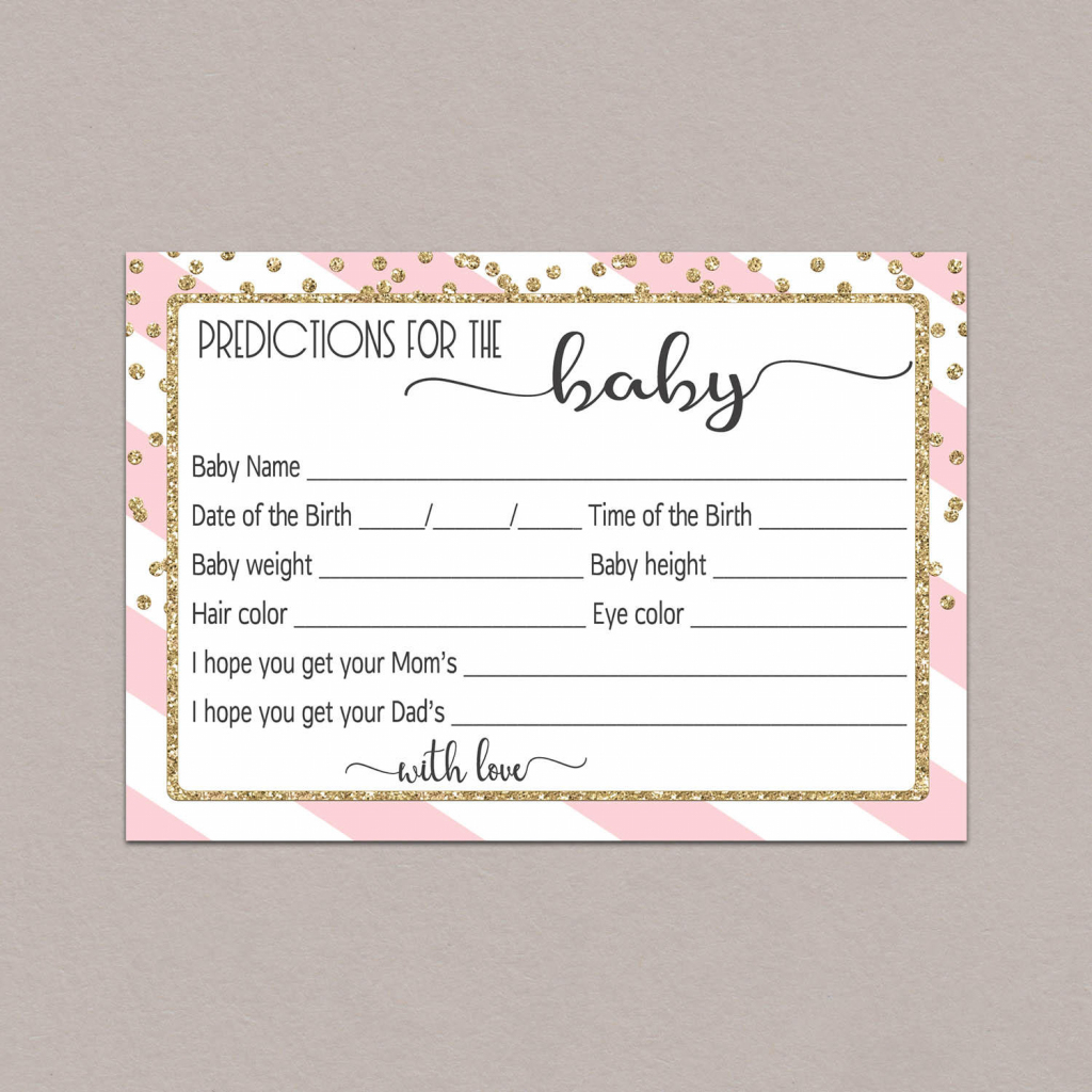 Baby Prediction Cards Baby Shower Predictions Printable   Etsy   Baby Shower Printable Prediction Cards